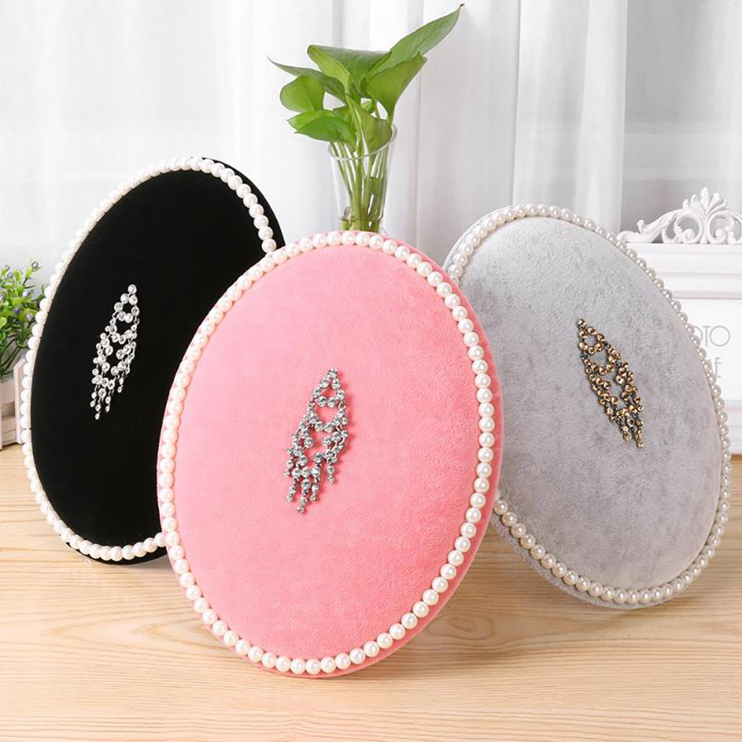 29cm Velvet Jewelry Holder Flannelette Earring Holder Earring Display Jewelry Display Stand Jewelry Storage Pink Grey Black