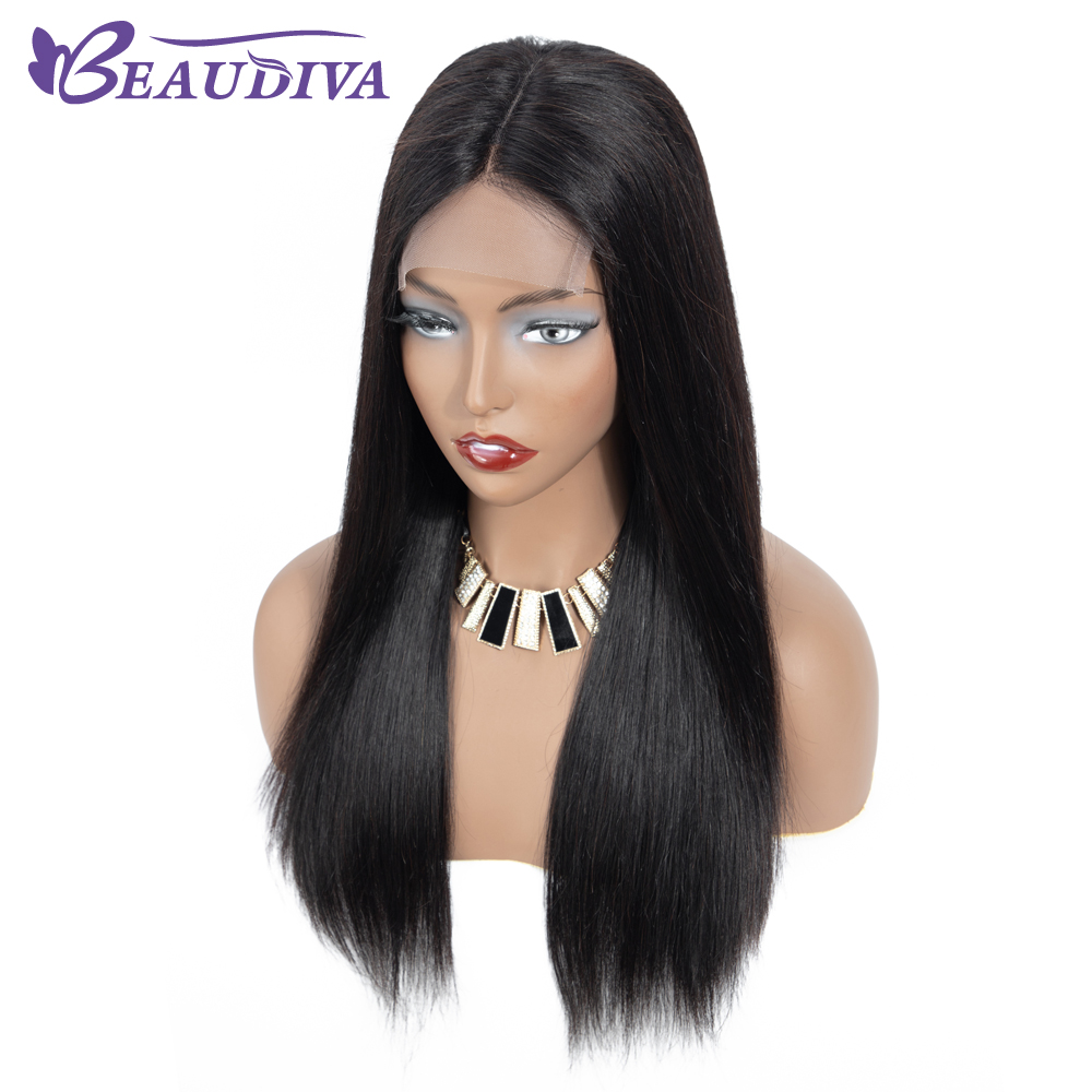 Beaduiva 4 4 Lace Front Human Hair Wigs Brazilian Straight Hair Human Hair Wig Natural Hairline