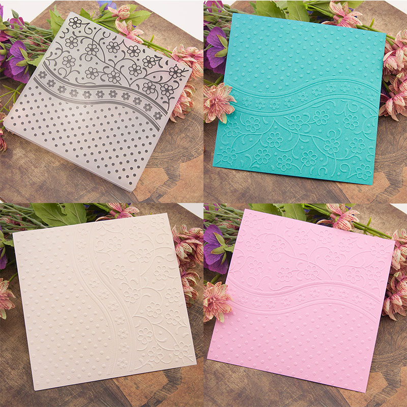 flower Embossing folders Plastic Embossing Folder For Scrapbooking DIY card