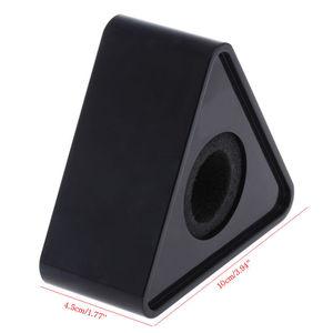 Image 4 - OOTDTY ABS plastica microfono intervista triangolare Logo Flag Station nero/bianco durevole