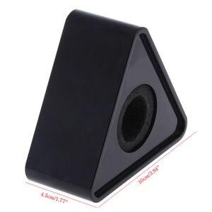 Image 4 - OOTDTY ABS plastique micro entretien triangulaire Logo drapeau Station noir/blanc résistant