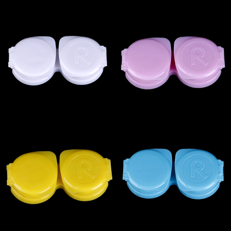 Double Candy Color Contact Lenses Box Contact Lens Case For Travel Kit Holder Container Contact Lenses Tweezers Wholesale prescription drug