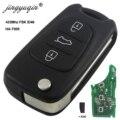 Jingyuqin 3 кнопки откидной складной 433 МГц ID46 дистанционный Автомобильный ключ для Kia Rio 3 Picanto Ceed Cerato Sportage K2 K3 K5