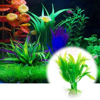 1PC Plastic ManmadeSupplies Wholesale Water Plant Grass Green 15cm Height for Aquarium Decoration