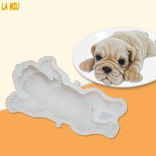 LA MIU New 3D Cute Dog Mousse Cake Shar Pei Mould Silicone Mold Ice Cream  Jello Pudding Blast Chilling Fondant Decorating Tools 2b650066115c
