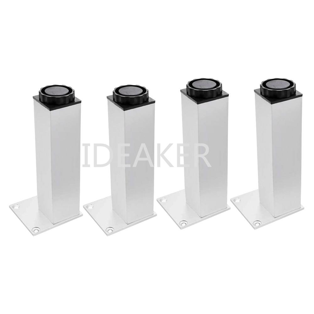 1PCS 250mm Adjustable Aluminum Alloy Circular Furniture Legs Silver Cabinet Sofa Feet