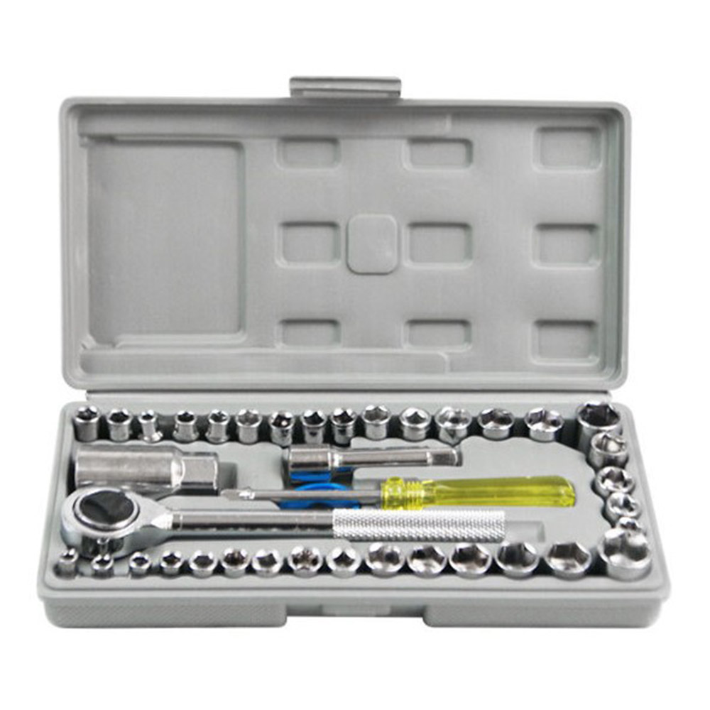 26 pieces Ratchet Wrench Tool for Auto Repairing Driver Socket Set