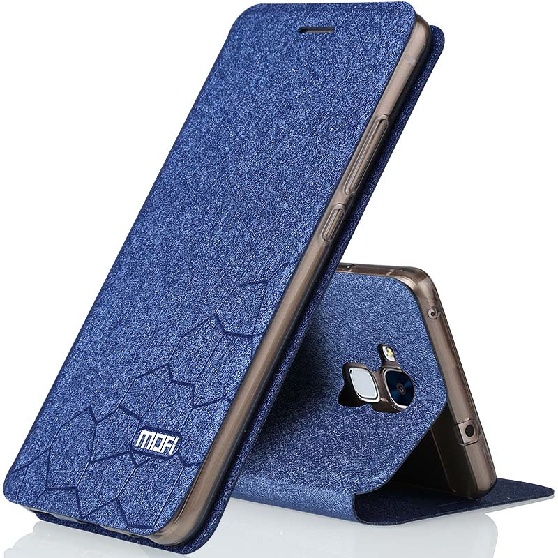 Huawei Honor 7 lite case flip leather cover mofi soft back silicone coque for huawei honor7