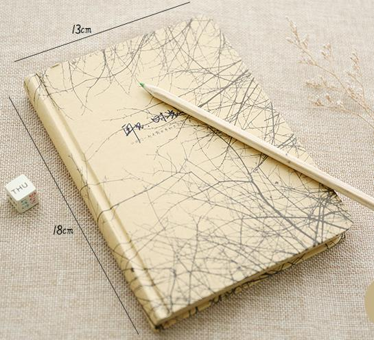 Retro hardcover notebook blank page kraft paper graffiti notebook  office school supplies 13*18cm 140 page note paper creative fruit design