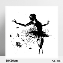 ZhuoAng Lonely dancer Clear Stamp  Seal for DIY Scrapbooking Photo Album Card Making Decoration Supply