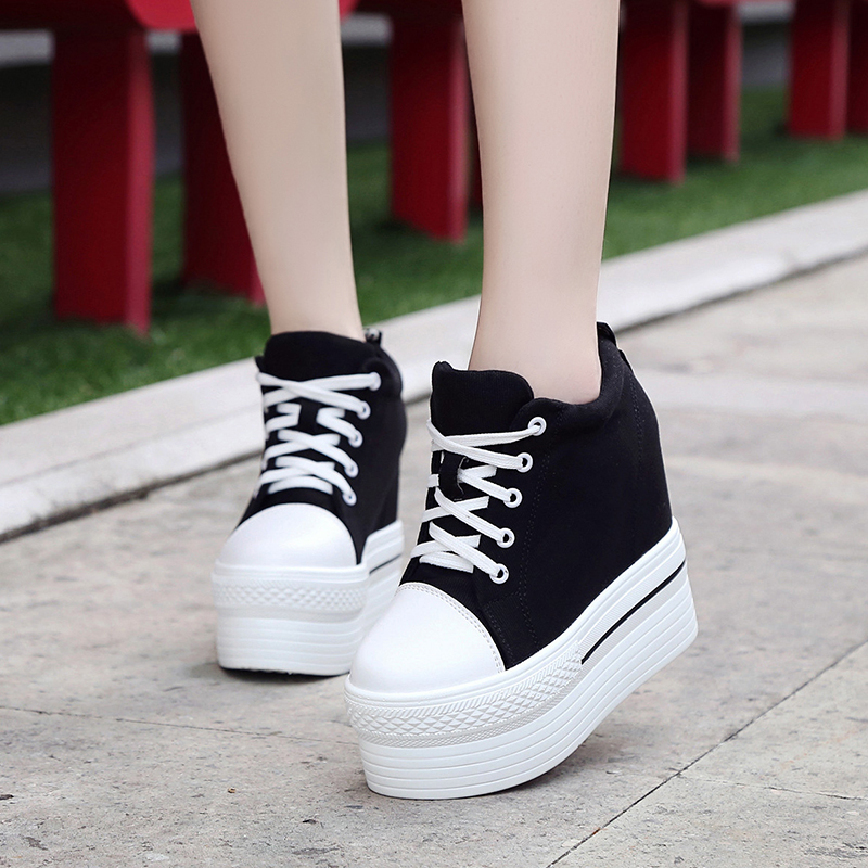 Women Casual Platform Shoes High Heels Shoes Canvas Dropshipping Woman Wedges Women Shoes trainers Height Increasing minika women casual canvas shoes air cushion soles slip on swing fitness shoes platform wedges walking height increasing shoes