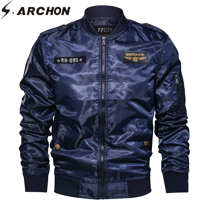 S ARCHON New US MA1 Air Force Tactical Jackets Men Motorcycle Military Army Pilot Autumn Windbreaker Jackets Bomber Jacket Coat in Jackets from Men 39 s Clothing