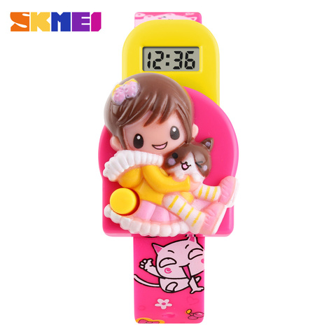 SKMEI New Cartoon Children Digital Watch Reloj Fashion Girl Student Cute Kids Watches Relogio Masculino Sports Wrist Watches Lahore