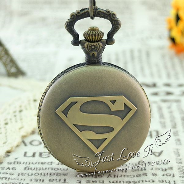 45mm SUPERMAN standard the retro fashion pocket watch for men and women  kids antique pocket watch 2017 2016 aladdin and the magic lamp watch the young men and women fashion quartz pocket watch table birthday gift ds262