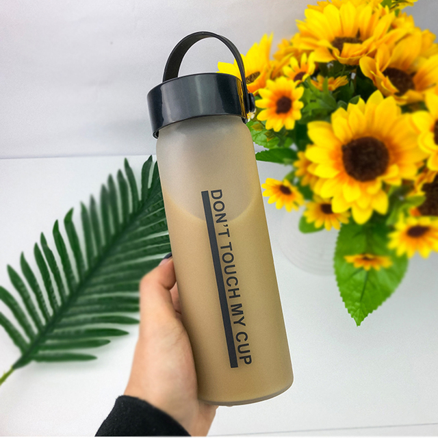 Portable Creative Letter Glass Water Bottle 3