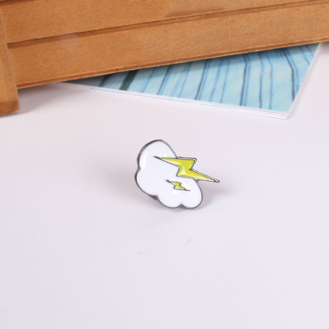 Lots 5 Pcs 5 Style DIY Cute  Small Enamel Slippers Lightning Robber Drumstick  Gesture Brooch Pins