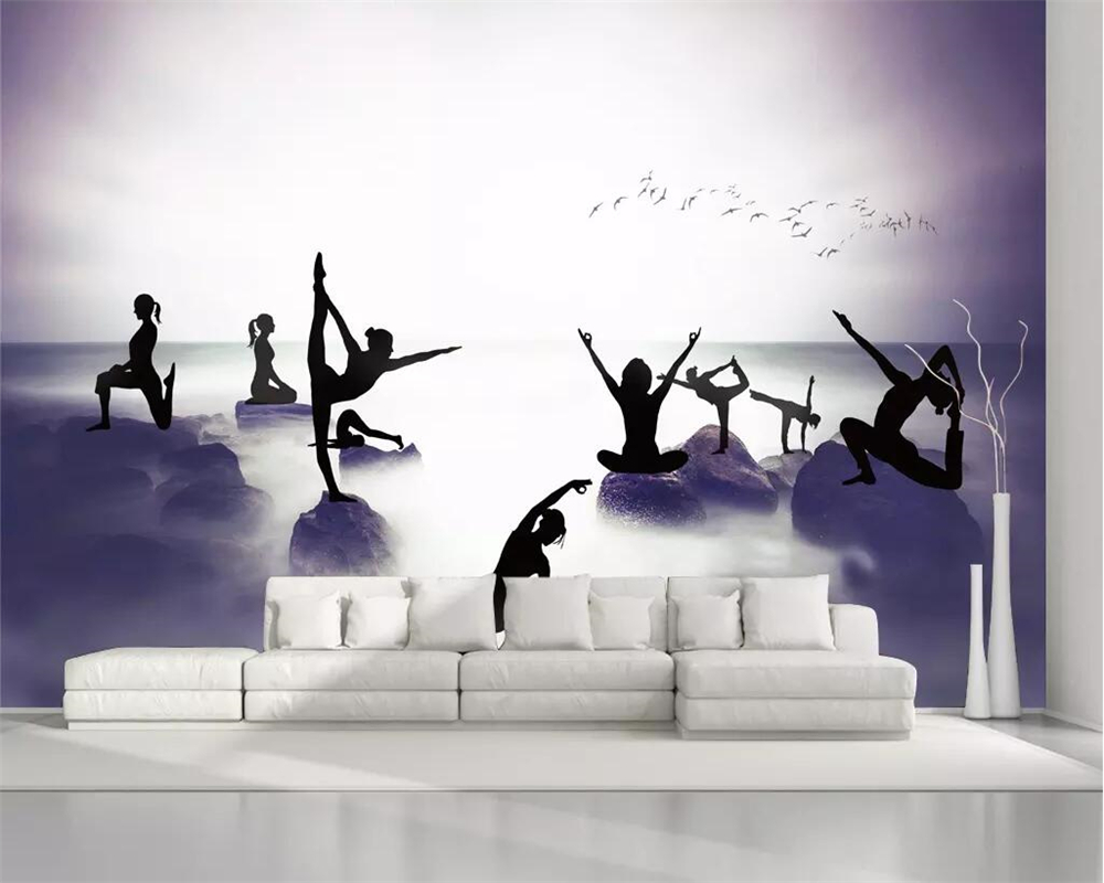 beibehang Custom wallpaper 3D mural modern fantasy beautiful yoga theme tooling home improvement health background wall Home Improvement