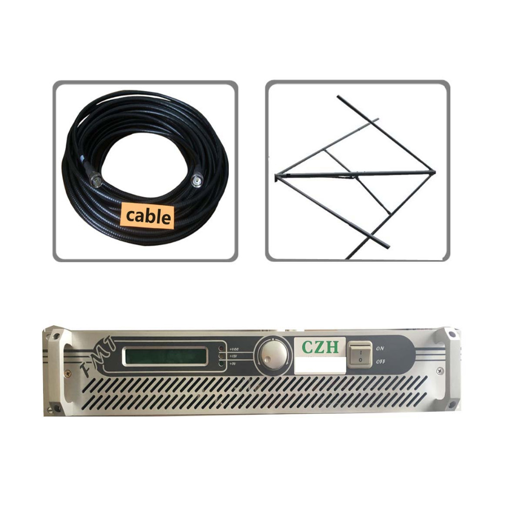 100w 150W FM broadcast  transmitter circularly polarlized antenna and 30meters feeder cable kit 100w 150w 2u professional fm broadcast radio transmitter fm transmisor 87 108 mhz dipole antenna