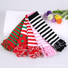 New Style Baby Leg Warmers Cotton Cute Rainbow Leggings Girls Striped Tights Infant Girl Ruffle Warmers Polka Dot Leg Warmer(China)