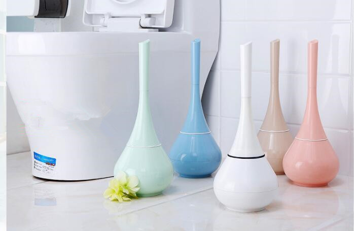 1SET Toilet Brush ABS PP Plastic Toilet Brush Holder WC Brush White Toilet Brush Holder Bathroom Accessories KP 025 in Cleaning Brushes from Home Garden