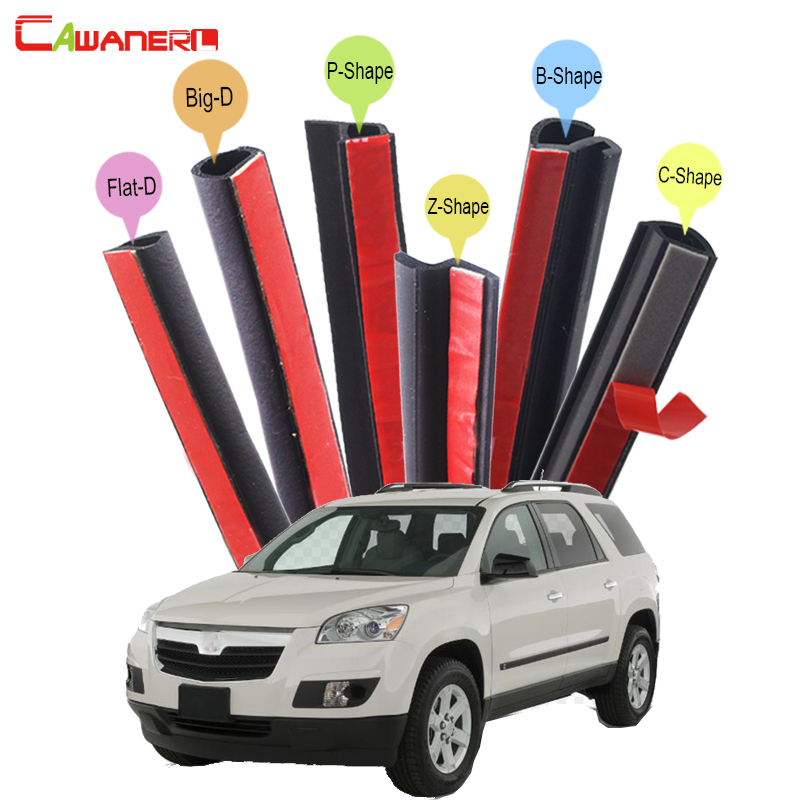 Cawanerl Car 4-Door Hood Trunk Rubber Seal Sealing Strip Kit Sound Control Weatherstrip Seal Edge Trim For Saturn Outlook Vue cawanerl whole car hood trunk door sealing seal strip kit seal edging trim rubber weatherstrip for jaguar c x17 f pace