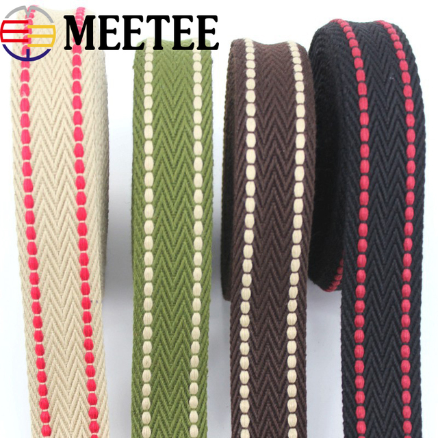 5Meters 38mm Polyester Cotton Webbings High Tenacity
