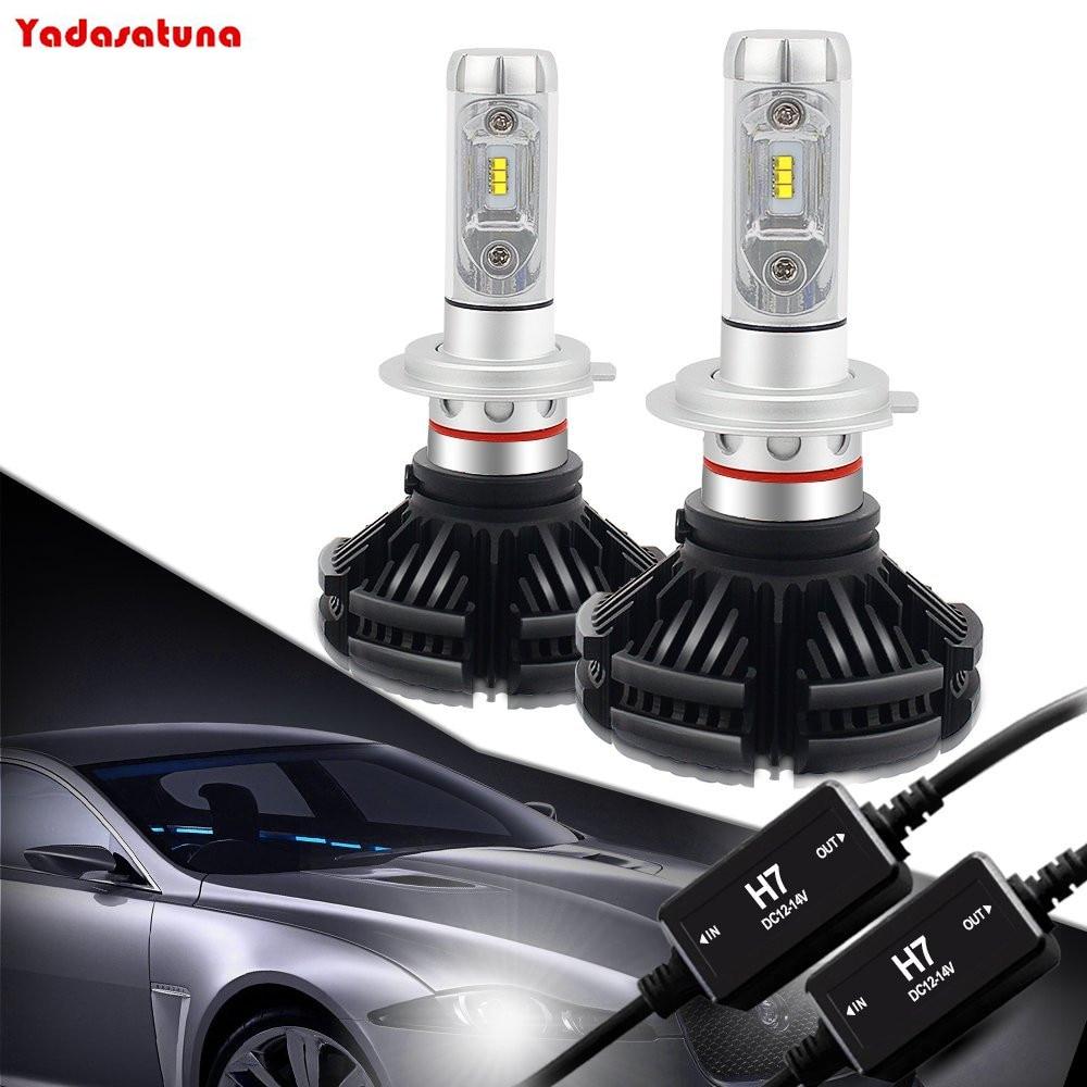 X3 Flips Chip H7 8000LM LED Headlight Conversion Kit,Low beam headlamp, Fog Light,Head light Replacement, 3000K 6500K 10000K DIY