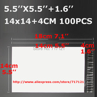 Commercio all'ingrosso 5.5 ''x 5.5'' 1.6 ''14*18 cm Self-seal sacchetti di Plastica Busta Posta corriere Distruttive Mailing Borse Postali