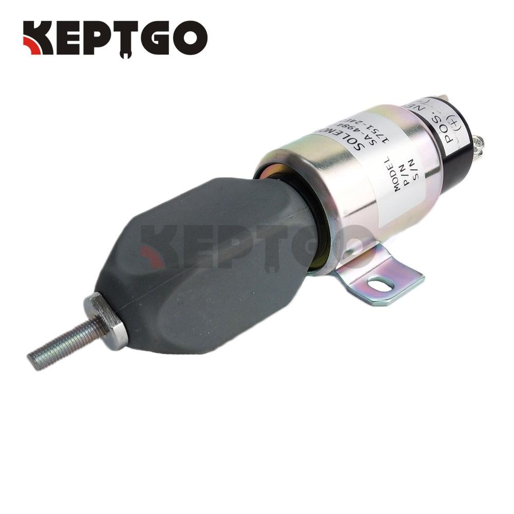12V Fuel Stop Shutdown Solenoid SA-4984-12 1751-12E2U1B1 For Cummins12V Fuel Stop Shutdown Solenoid SA-4984-12 1751-12E2U1B1 For Cummins