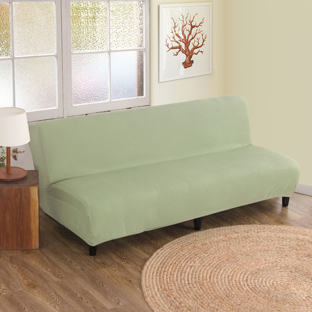 Knitting Sofa Cover All Inclusive Elastic Bed Without Armrest High Quality Couch Solid