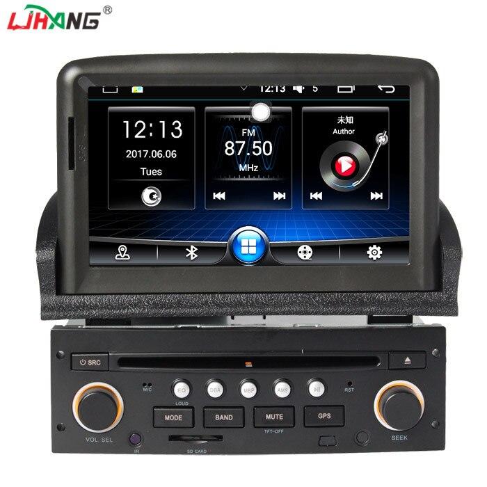 LJHANG 1 din Android 6.0 lecteur DVD de Voiture pour peugeot 307 bluetooth commande au volant RDS GPS Automobile Navi multimédia wifi