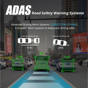 Image 4 - Bluavido 7 inç 4G araba dvrı kamera GPS FHD 1080P Android Dash kamera navigasyon ADAS araba Video kaydedici çift lens ön panel kamerası