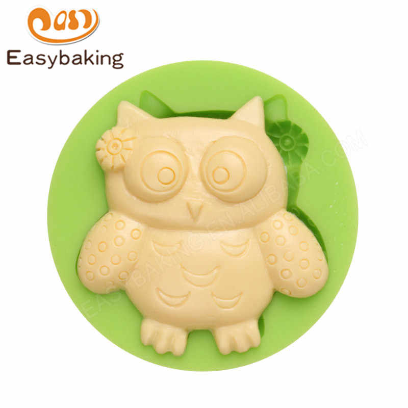 Mini 3D Female Owl Silicone Mold Fondant Cake Decoration DIY Craft Moulds for Clay Sugar Candy Fimo Resin Sculpey