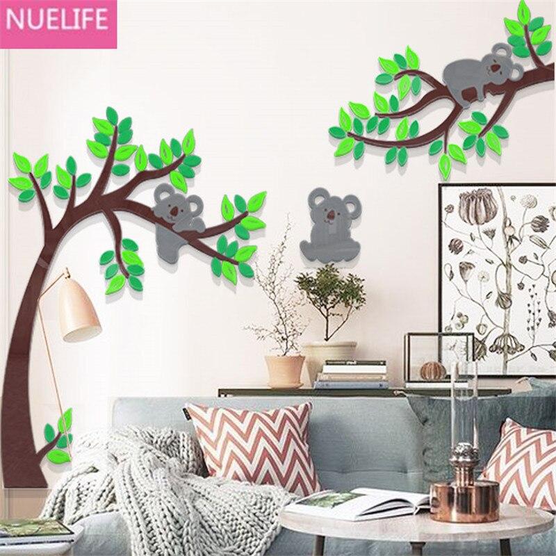 Large Cuddly koala bear tree 3D acrylic Wall stickers kids room bedroom background wall living room kindergarten Wall stickers