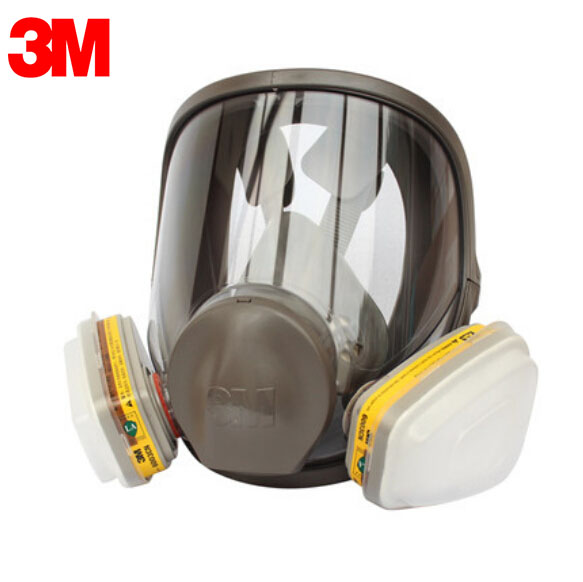3M 6800+6003 Full Facepiece Reusable Respirator Filter Protection Mask Respiratory Organic Vapor&Acid Gas OV/HD/HC/CL/HS LT021 3m 7501 6006 half facepiece reusable respirator mask protection mask against organic vapor acid gas ammonia protective mask zy00