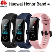 Original Huawei Honor Band 4 Smart Bracelet Wristband Amoled Color 0.95 Touch Screen Heart Rate Sleep Snap Monitor Swim