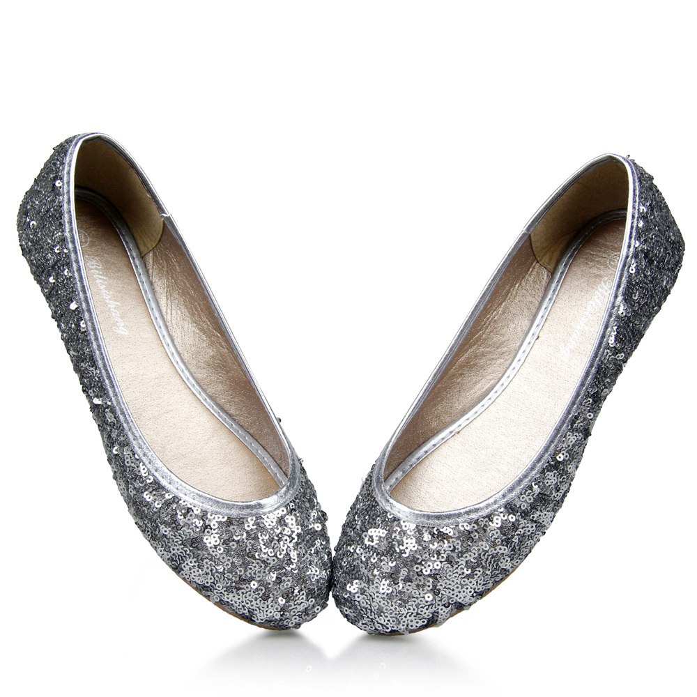 2015 NEW ARRIVAL Fashion Shining Spring and Autumn Women's shoes for Lady flats & Champagne, Light Gray,Royalblue