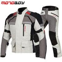 Motorcycle Protective Racing Jacket & Pants Reflective Waterproof Chaqueta Moto Warm Jaqueta Motoqueiro Clothing CE Suits