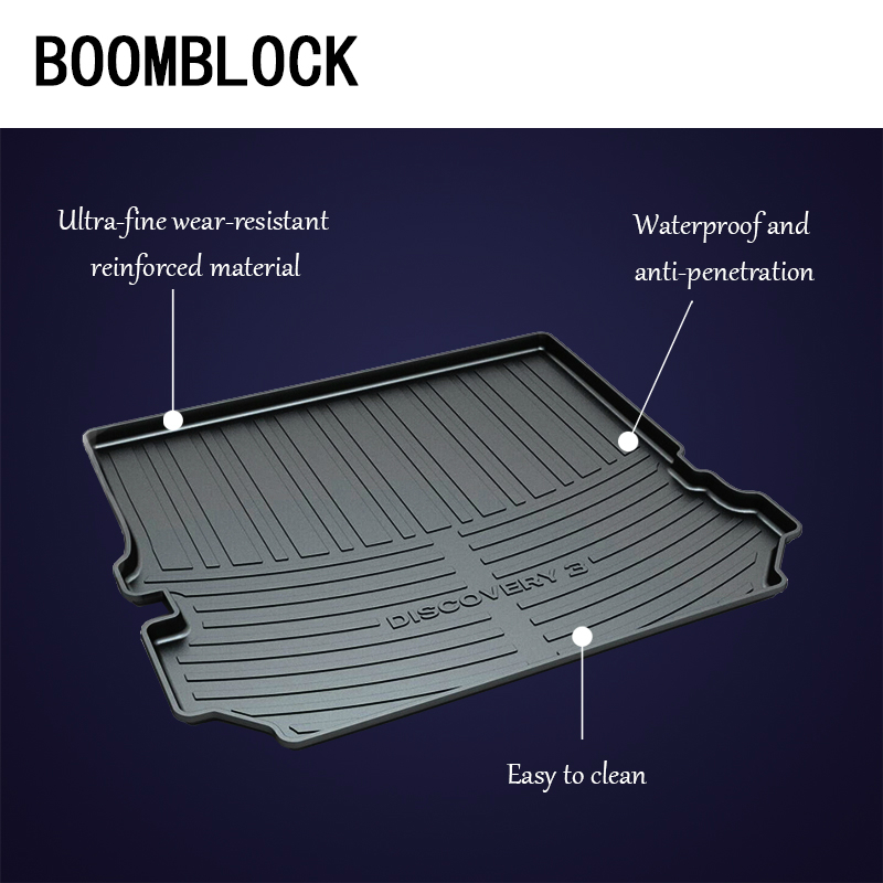BOOMBLOCK Car Special Trunk Floor Foot Mat Non-slip Dustproof For Land Rover Discovery 3 4 Freelander 2 Range Rover Sport Evoque leewa car reverse rear view camera for land rover freelander 2 discovery 3 4 range rover sport ca1281