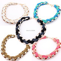 New Fashion Necklace Acrylic Ceed Beads Chokers Acrylic Chain Necklace For Women Jewelry 14109081