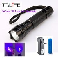 501B 3 Watt lila licht Uv Luxeon 395-410nm UV-LED-TASCHENLAMPE + 18650 Akku + Ladegerät Kit