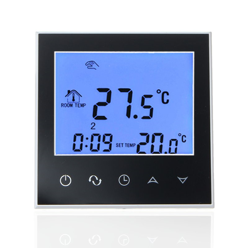 Digital LCD Touch Screen Room Heating Thermostat Programmable Thermoregulator Temperature Controller with Memory Function 7 24h programmable adjustable thermostat temperature control switch with child lock