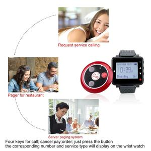 Image 4 - Retekess Restaurant Pager Hookah Waiter Call System Table Bell Pager 4 T128 Watch Receiver+30 T117 Call Button Cafe Clinic