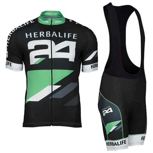 HERBALIFE Ciclismo Jersey negro manga corta Bicicleta Ropa deportiva Ropa  Ciclismo hombres MTB Jersey y pantalones 04d4c93aa
