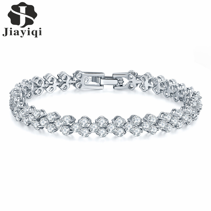 Aliexpress.com : Buy 2017 White Gold Color Chain Link Tennis ...