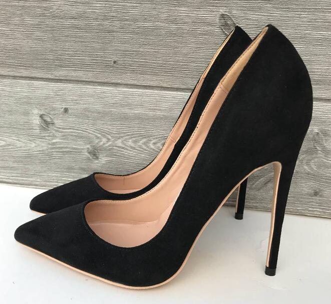 Brand Sexy Rivets Shiny Patent Leather High Heels Nude Pointed toe Pumps  Shoes Party Shoes Women Stiletto High heel Pumps e82b3053005a