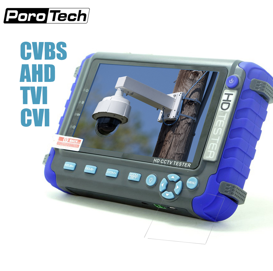 IV8C 5 Inch 5MP AHD CCTV Tester Monitor AHD 1080P Analog Camera Testing PTZ UTP Cable Tester 12V1A Output AHD TVI CVI CVBS 4IN1 sannce ahd cctv tester monitor 4 3 inch hd 1080p analog camera ptz utp cable tester 12v1a output for home security