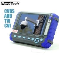 IV8C 5 Inch 5MP AHD CCTV Tester Monitor AHD 1080P Analog Camera Testing PTZ UTP Cable Tester 12V1A Output AHD TVI CVI CVBS 4IN1