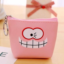 Kawaii PU Leather Coin Purses Small Coin Wallet Lady Fashion Cute Pattern Cartoon Money Bag Cute Kids Zipper Pouch Gift