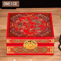 Jewelry Storage Box Lacquer Copper Wire Shell Wood With Lock Retro Earrings Storage Hand Christmas Decoration for Home Gift